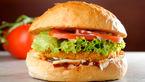 چیکن برگر مکزیکی خانگی/غذای سالم و فوری