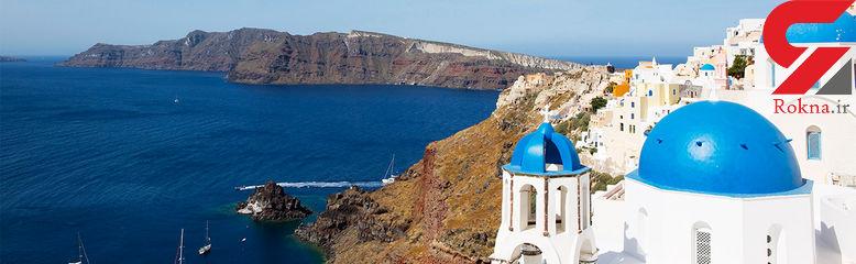 جزیره ای زیبا به نام «سانتورینی»