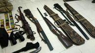 کشف محموله سلاح شکاری در پارس آباد