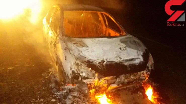 پژو 206 هم سقوط کرد و راننده اش زنده زنده در آتش سوخت