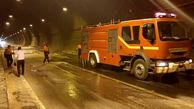 عکس / مهار آتشسوزی در تونل شماره یک جاده اردبیل - سرچم
