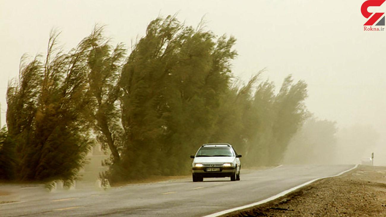 وزش باد و گرد و خاک در محورهای شمالی سیستان و بلوچستان