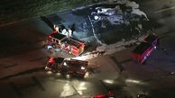 عکس / سقوط هواپیمای خصوصی در کالیفرنیا
