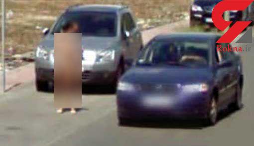 دستگیری دختر بدون لباس که خیابان را به هم ریخت+عکس