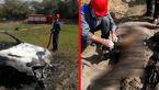 دست و پای مرد اهوازی را بستند و زنده زنده داخل صندوق عقب پژو به آتش کشیدند+عکس (14+)
