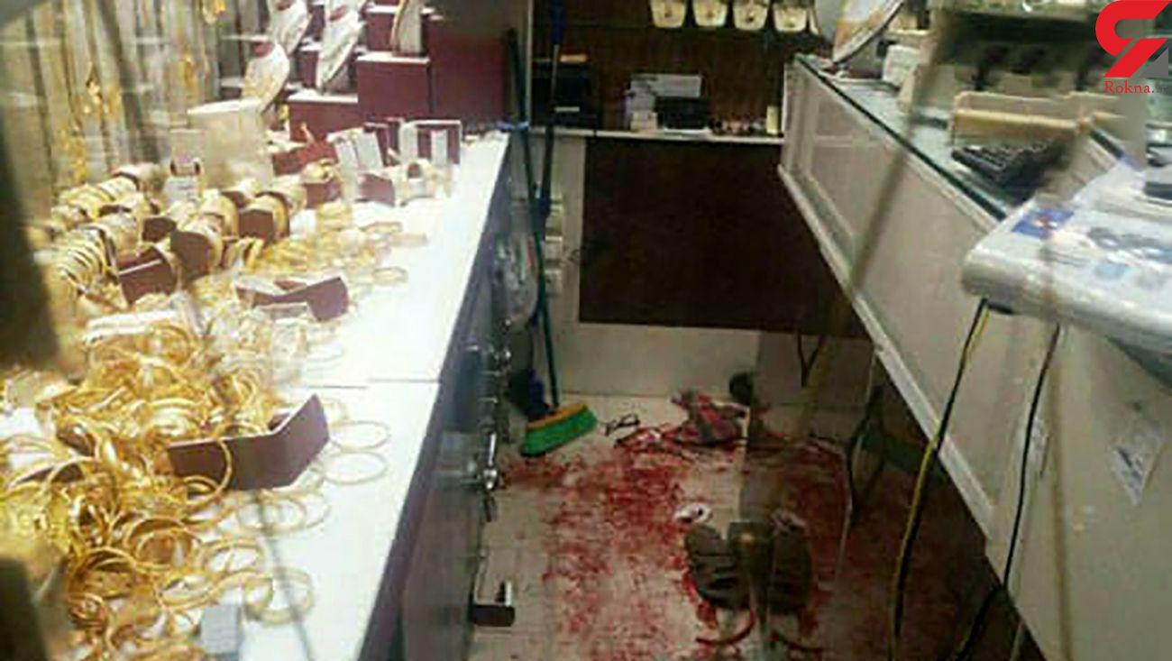 فیلم درگیری مسلحانه سارقان طلا فروشی اسلامشهر / مردم به آنها حمله کردند +عکس