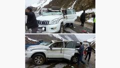 واژگونی خودروی پرادو در جاده هراز +عکس