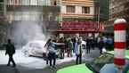 آتش سوزی خودرو در میدان هفتم تیر+عکس