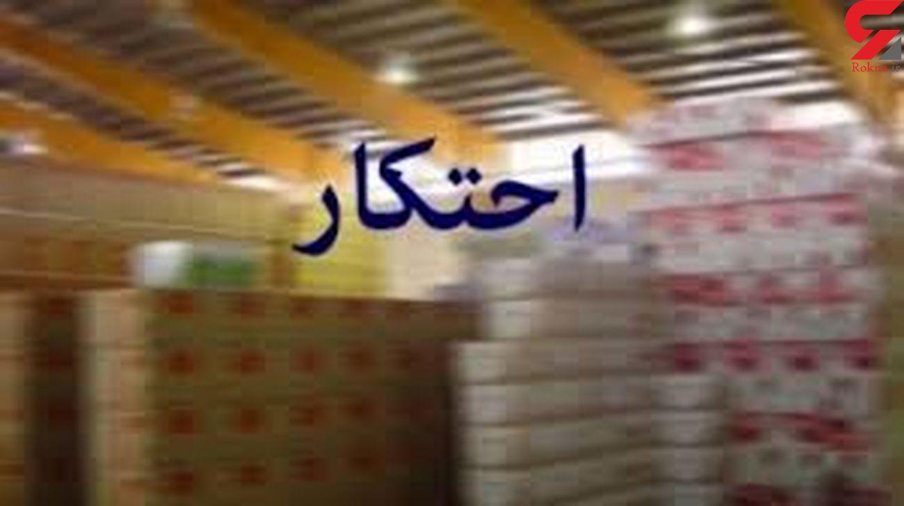 کشف انبار مواد غذایی احتکار شده در مهران