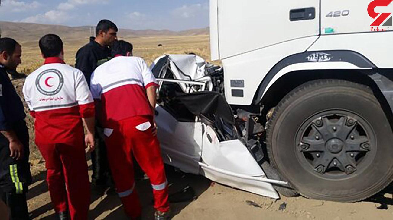 تصادف مرگبار سواری و کامیون در شیروان