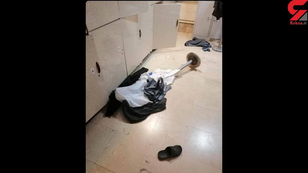 حمله مردان نقابدار با قمه به بیمارستان فارابی کرمانشاه + جزئیات و عکس ها