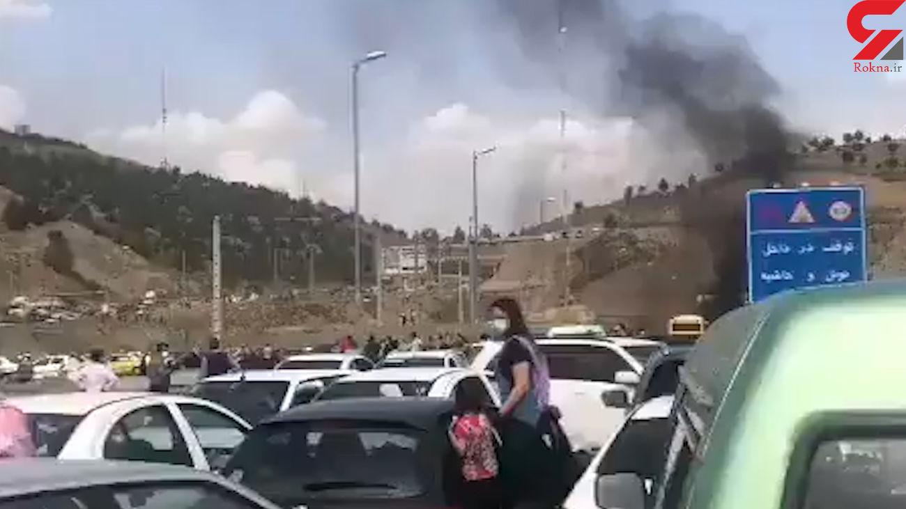 تصادف هولناک در آزادراه تهران-پردیس+ فیلم