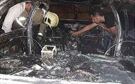 عکس باورنکردنی از جزغاله شدن یک خودرو در اتوبان قم + جزییات