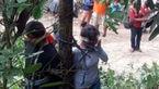مردم خشمگین زن بخت برگشته و دختر و پسرش را به طرز عجیبی مجازات کردند !+عکس