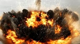 فیلم لحظه انفجار وحشتناک پمپ بنزین در روسیه