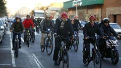 شهردار تهران امروز هم با دوچرخه سر کار رفت +تصاویر