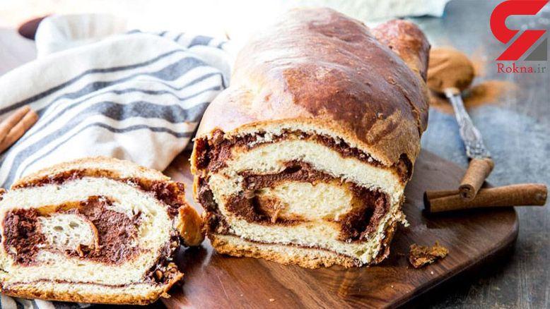 تهیه نان دارچینی خانگی برای صبحانه+دستور پخت