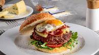 صبحانه ای فانتزی با بیکن گوساله و پنیر+ دستور تهیه