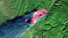 تصویر ماهوارهای جالب از تخریب جنگلهای آمریکا پس از آتش سوزی