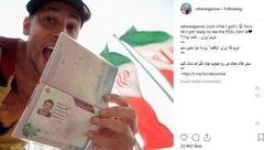 این مرد آمریکایی عشق به ایران را فریاد زد + عکس