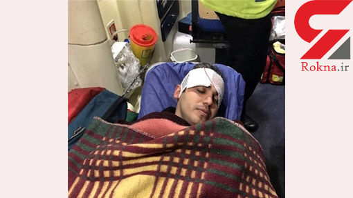 تصادف خطرناک گزارشگر ورزشی معروف تلویزیون در تهران +تصاویر