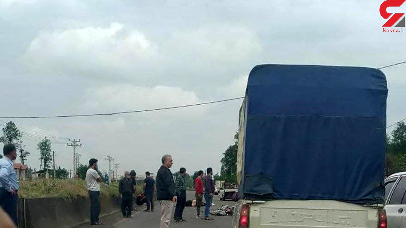 تصادف مرگبار موتورسیکلت و خودرو در رودسر