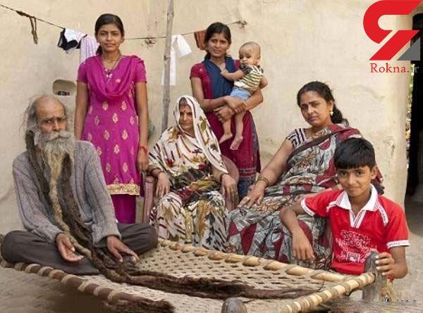 بدبوترین مرد جهان 40 سال حمام نرفت تا همسرش پسر باردار شود+تصاویر
