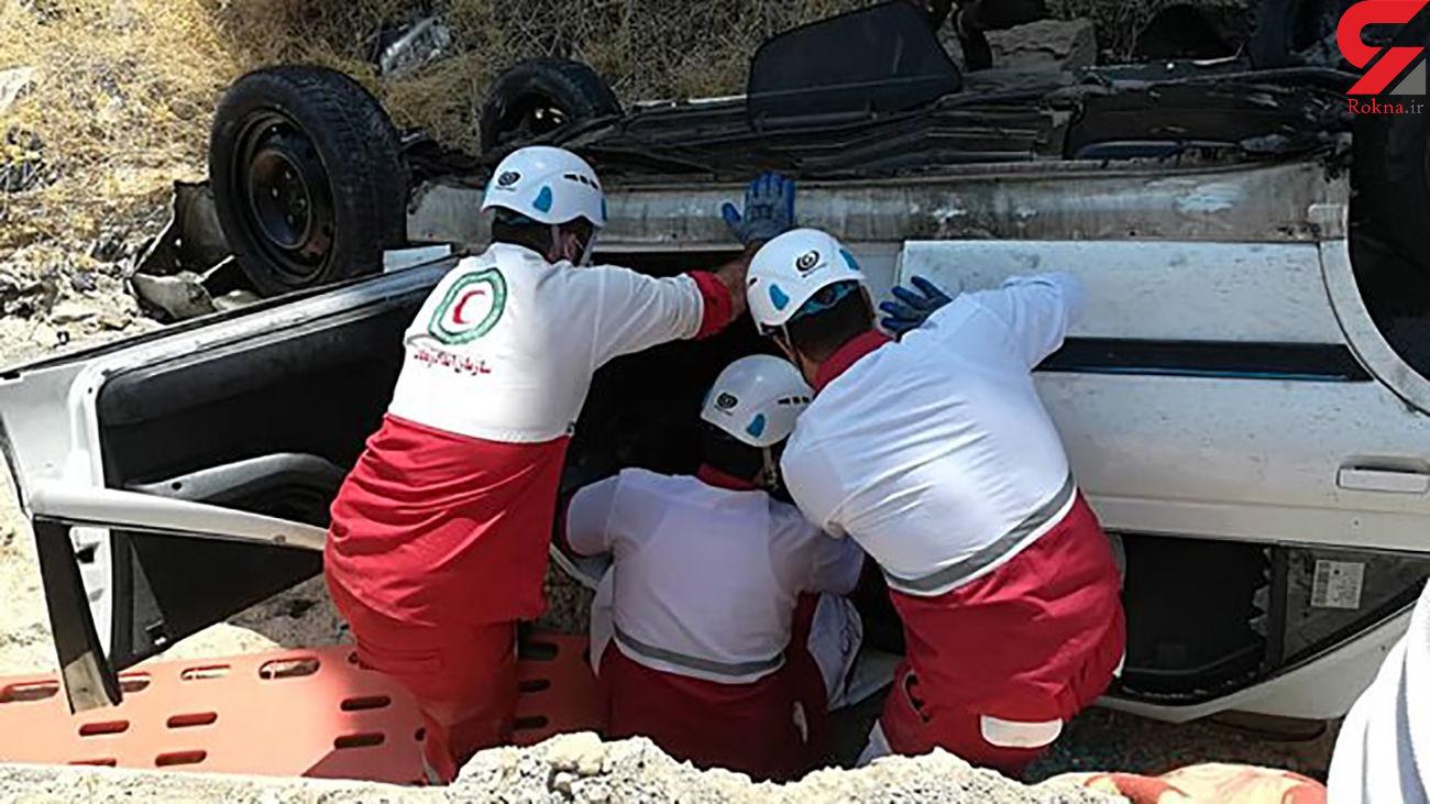 دو کشته در واژگونی خودرو در جاده برازجان - شیراز
