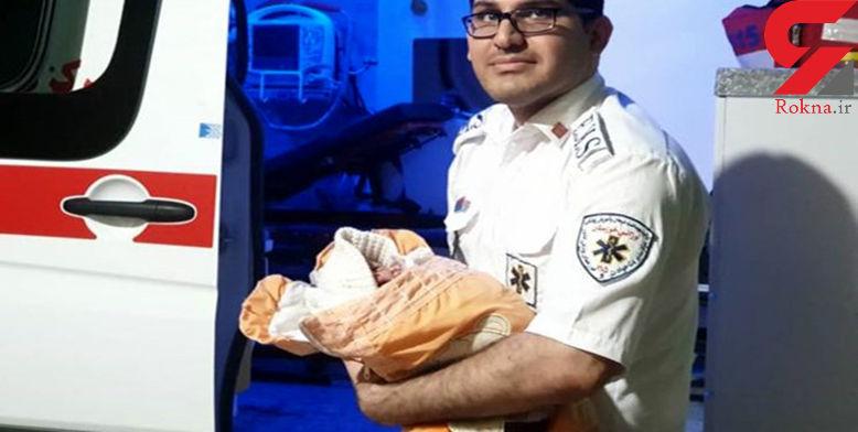 رکورد عجیب از زایمان زن خوزستانی در آمبولانس