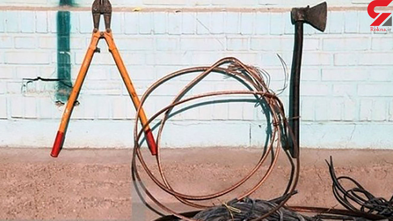 بازداشت 5 دزد کابل های برق در پارس آباد