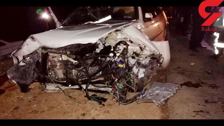 یک کشته و 14 زخمی در تصادف زنجیرهای در محور خرامه+عکس