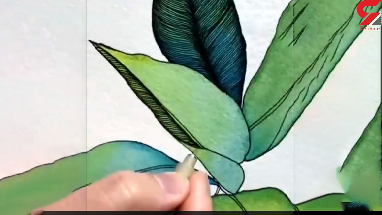 ظرافت نقاشی روی برگ + فیلم