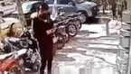فیلم لحظه سرقت سرویس قابلمه در روز روشن