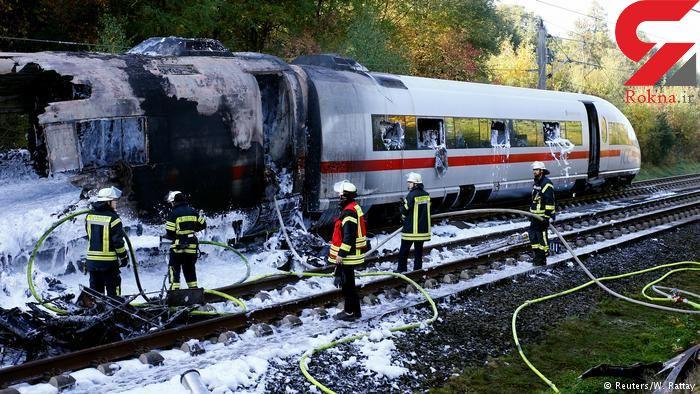 آتشسوزی قطار سریعالسیر در آلمان به خیر گذشت