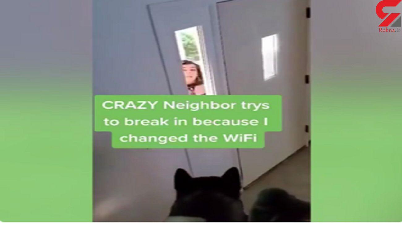 تهدید به کشتن سگ زن همسایه بخاطر رمز وای فای  + فیلم