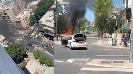 اصابت فروندها موشک فلسطینی به تلآویو + فیلم