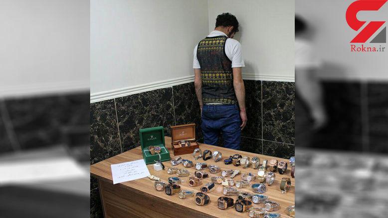 دزد ساعت فروشی خیابان ولیعصر تهران دستگیر شد + عکس