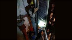 حادثه هولناک برای کارگر نصاب آسانسور+ عکس