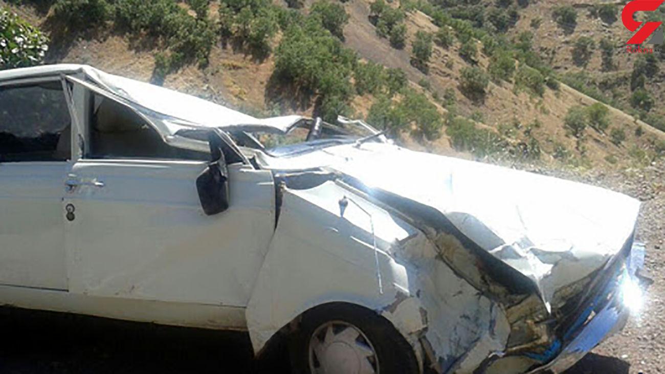سقوط پیکان به دره با یک فوتی در مازندران