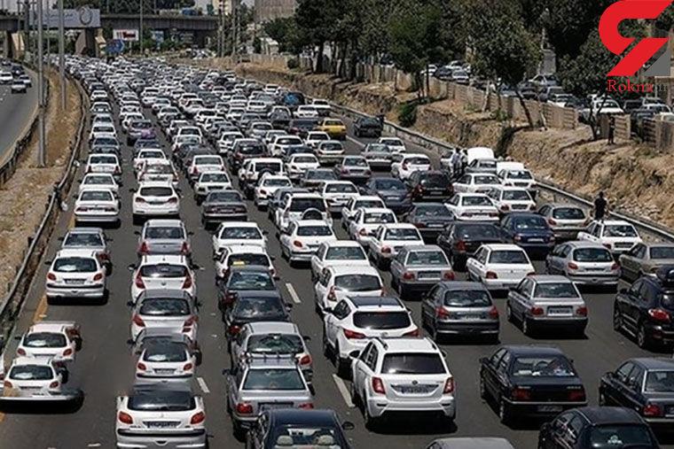 ترافیک سنگین در محور قزوین_کرج