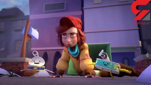 """در افتادگی دست افتاده گیر، حکایت انیمیشن """"پسر کارتن خواب"""" است +فیلم"""