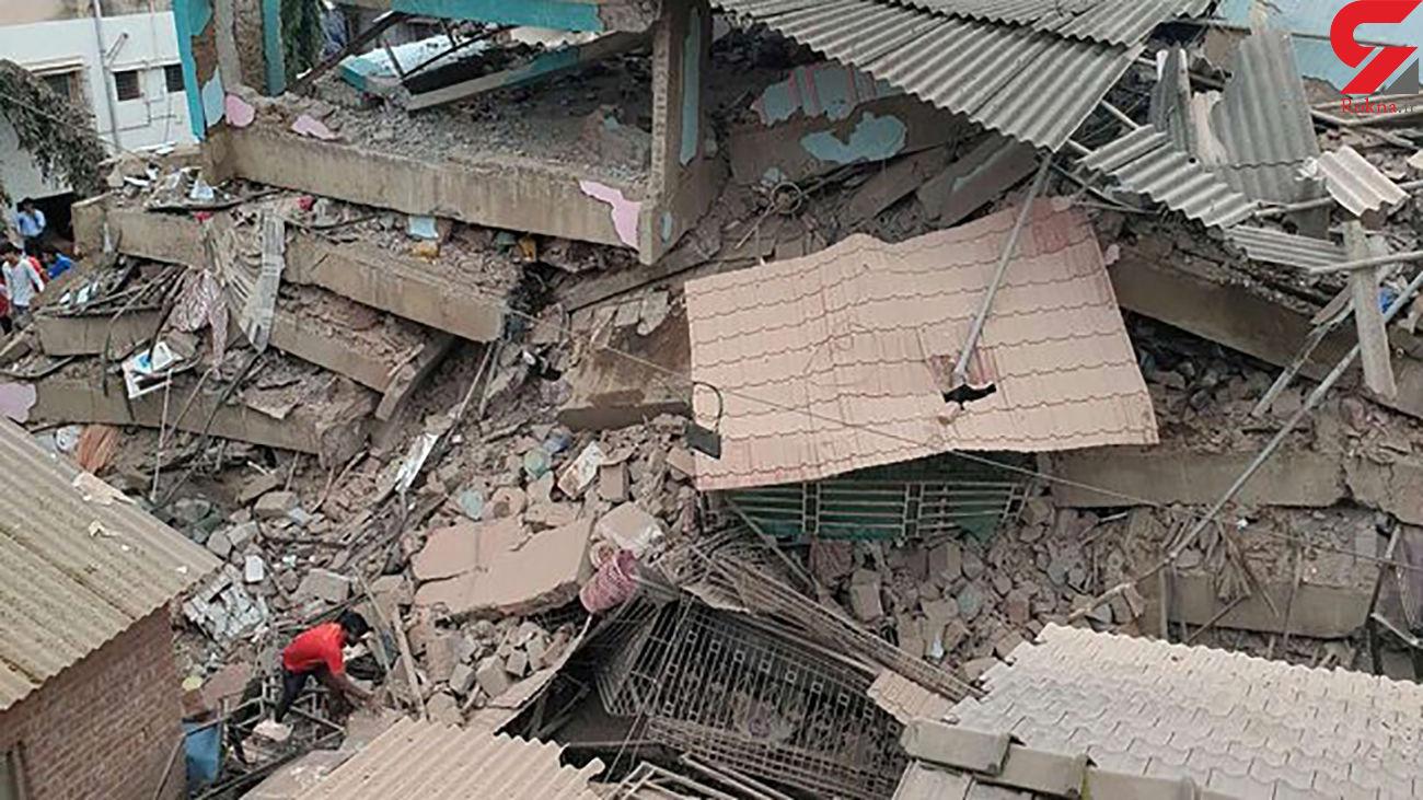 ریزش مرگبار ساختمان در هند