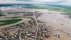 تمام راه های آق قلا بر اثر شدت حجم آب مسدود است