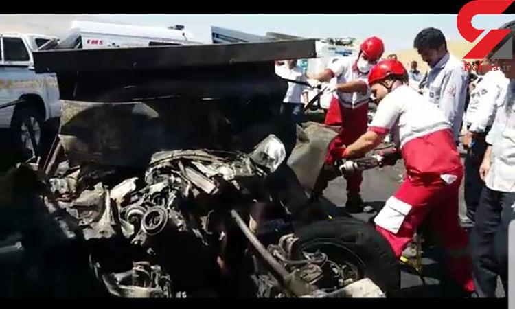 راننده نیسان در آتش سوخت / در لرستان رخ داد
