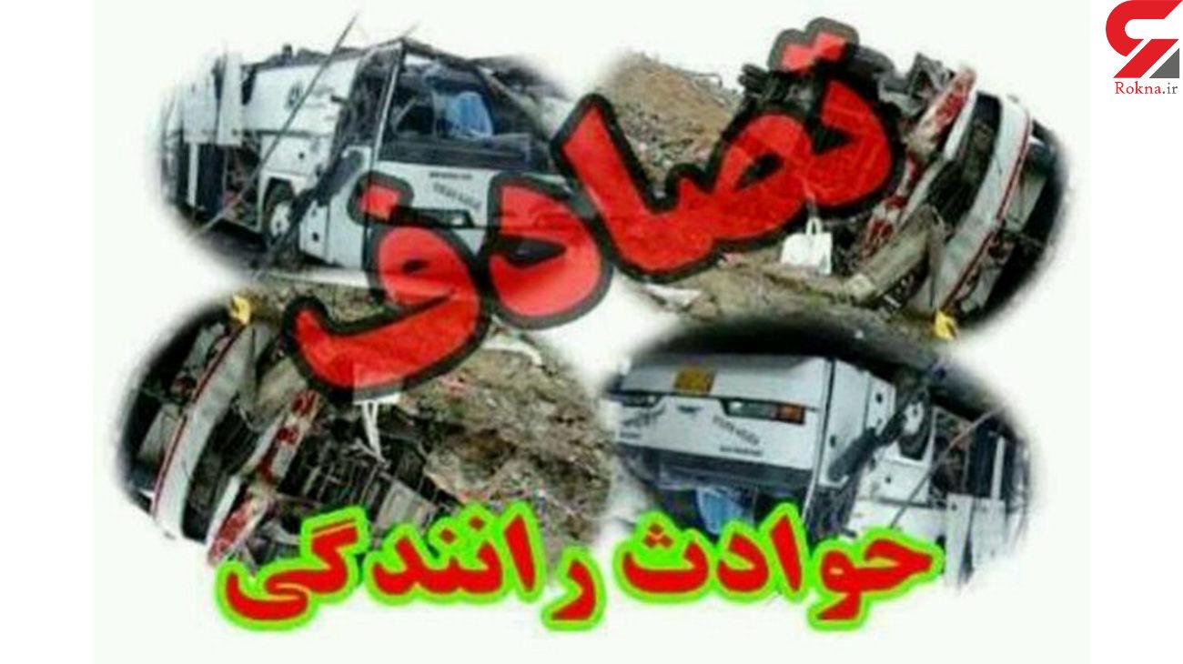 تصادف مرگبار پژو405 با کامیون در بندر عباس