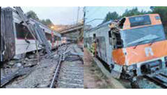 رانش زمین قطار را از ریل خارج کرد / 2 کشته + عکس