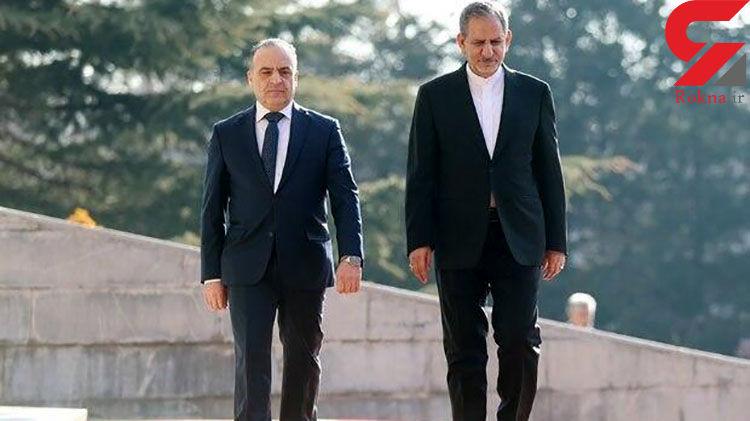 استقبال رسمی جهانگیری از نخست وزیر سوریه