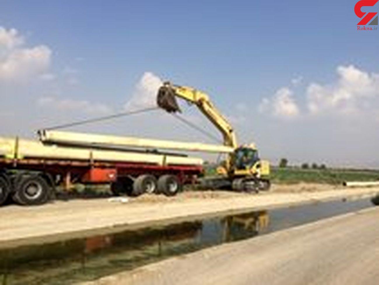 اجرای 3 پروژه بهسازی شبکههای آبیاری و زهکشی در هرمزگان