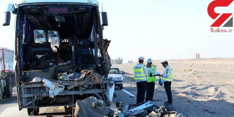 4 کشته و مجروح در تصادف اتوبوس با تریلر در گردنه آهوان