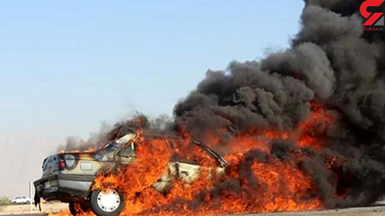 زنده زنده سوختن 4 سرنشین پژو در ماهشهر